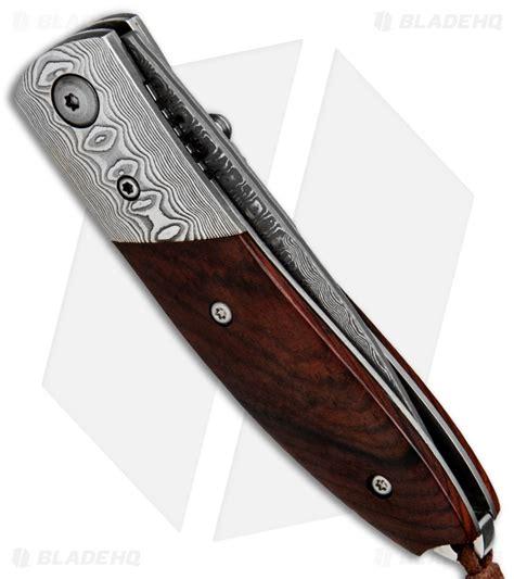 buck damascus knives buck n damascus liner lock folding knife cocobolo 2 8 quot damascus blade hq
