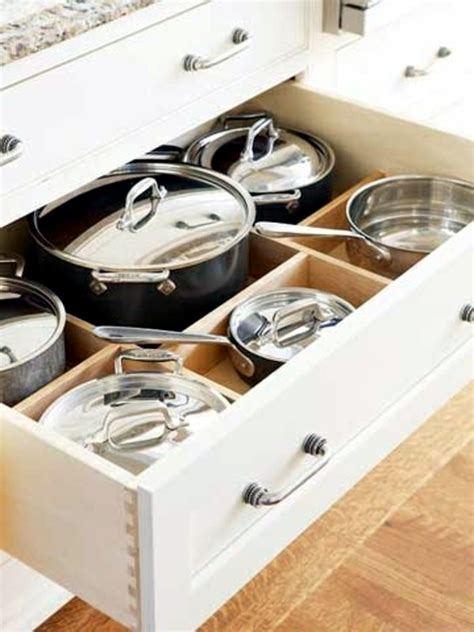 pots and pans drawer kitchen drawer dividers organize your kitchen equipment