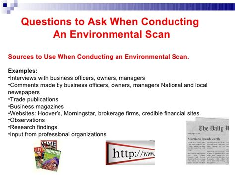 environmental scan template entrepreneurial discovery and environmental scanning