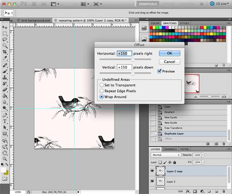photoshop pattern offset how to make a pattern repeat in photoshop heylucy a
