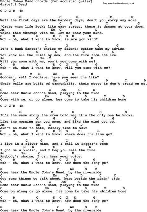 linda perry letter to god chords song lyrics with guitar chords for uncle john s band the