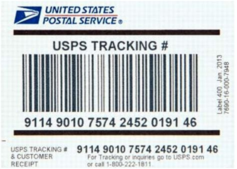 Us Post Office Tracking Number by Sts Usps Delivery Confirmation Postal Service