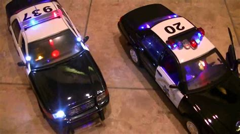 police car toy with flashing lights lapd police car and chp unit lights sirens engine
