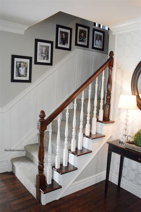Images Of Banisters by How To Stain An Oak Banister The Idea Room