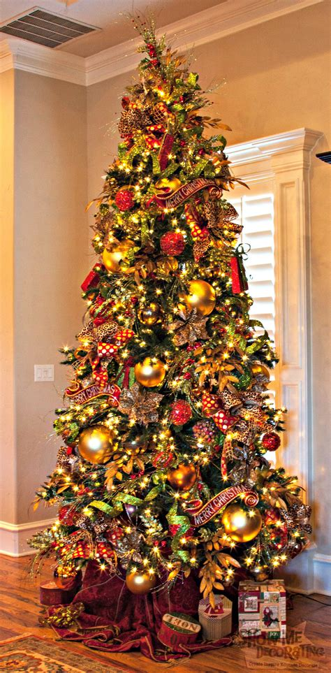 home decorated christmas trees colors show me decorating