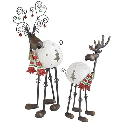 pier 1 bobblehead reindeer bobblehead reindeer tealight holders pier 1 imports