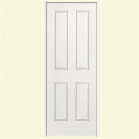 Masonite 24 In X 80 In Smooth 4 Panel Hollow Core Primed 24 Closet Door