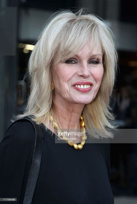 chop hairstyle for women longer version mclaren london showroom opening joanna lumley
