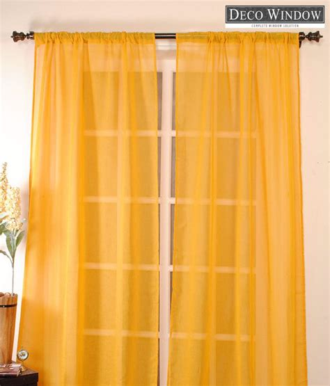Yellow Sheer Curtains Deco Window Yellow Sheer Curtain Buy Deco Window Yellow Sheer Curtain At Low Price