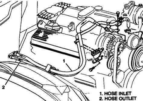 chevrolet 305 heater hose diagram cars & trucks questions