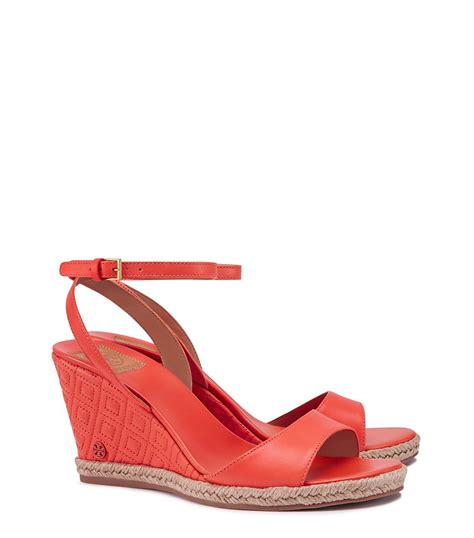 Burch Quilted Wedge by Burch Marion Quilted Espadrille Wedge Sandal In