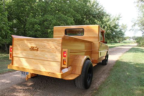 custom built all wood ford truck