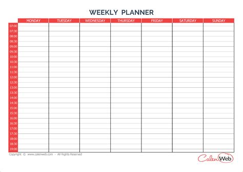 printable weekly day planner 8 day planner template authorizationletters org
