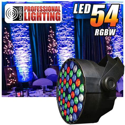 Lu Led Par 54x1 Rgbw adkins pro lighting led 54 rgbw color mixing led par can