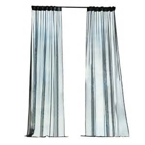 home depot back home decorators collection black outdoor back tab curtain