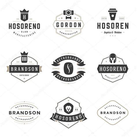 ketentuan layout element logo vintage logos design templates set vector design elements