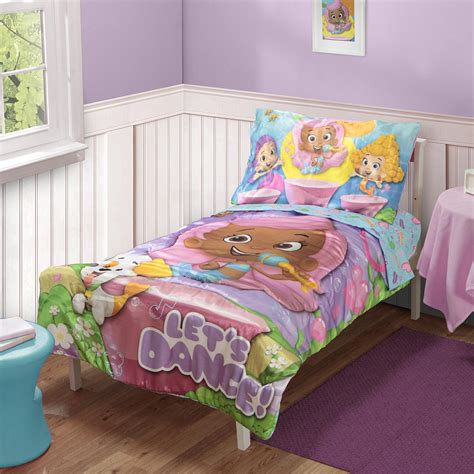 bubble guppies bedroom set bubble guppies 4 piece toddler bedding set molly and