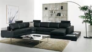 Large U Shaped Sectional Sofa T 35 Large U Shaped Modern Leather Sectional Sofa With Lights