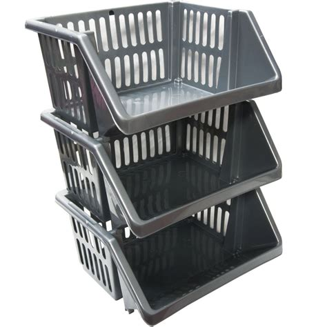 Three Tier Vegetable Rack by 3 Tier Silver Plastic Stacking Vegetable Food Kitchen