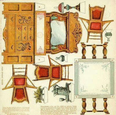 recortables  ninos muebles recortables  casitas