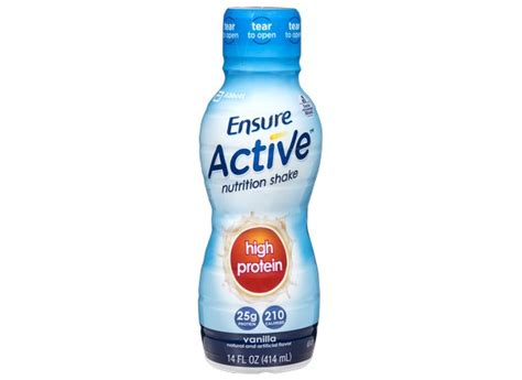 Consumer Reports Detox Shakes by Ensure Active High Protein Vanilla Nutrition Shake Healthy