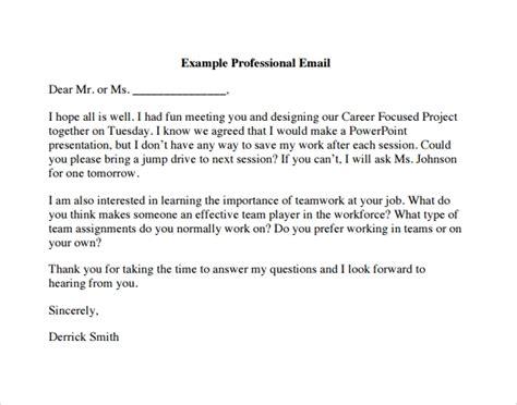professional emails templates 8 sle professional emails pdf sle templates