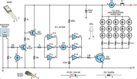 automotive led timing light wiring diagram circuit