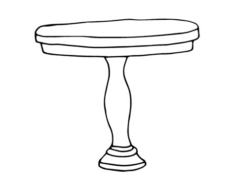 round table coloring page coloringcrew com