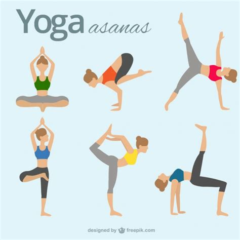 imagenes yoga vector asanas de yoga descargar vectores gratis