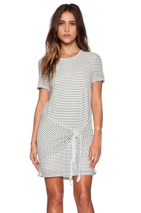 Sleeve Tie Front Dress lyst dolan sleeve tie front dress in gray