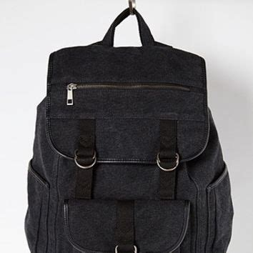 Canvas Buckled Flap Backpack buckled flap front canvas backpack from forever 21 other