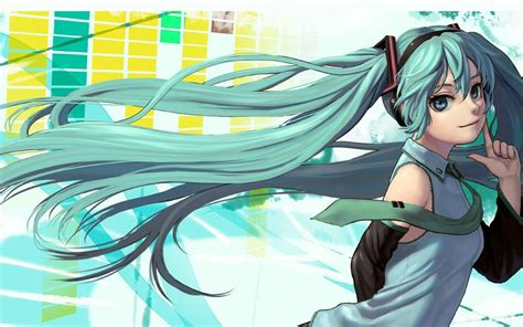 hatsune miku anime design hd wallpaper preview