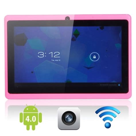 """7"""" android 4.0 4gb tablet pc with camera pink · cheap"""