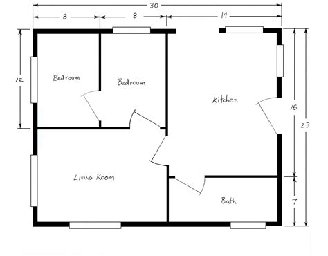 create floor plan with dimensions sle house plans with dimensions house design ideas