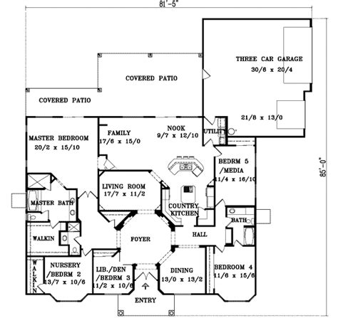 1000 Sq Ft Garage Plans by Mediterranean Style House Plan 5 Beds 3 Baths 3303 Sq Ft