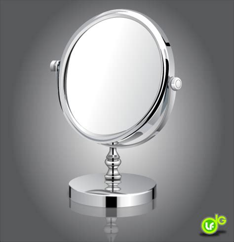 draw a shiny make up mirror with adobe illustrator over