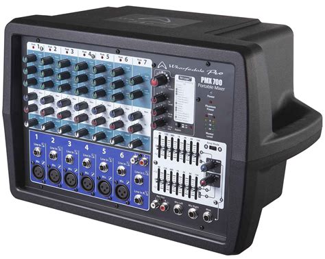 Mixer Wharfedale wharfedale pmx700 6 channel 2 x 150w powered pa mixer astounded