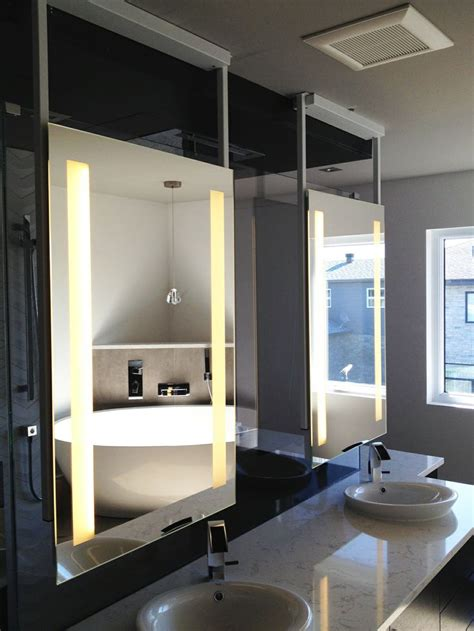 ceiling mounted mirror 1000 images about backlit mirrors mirror tv on