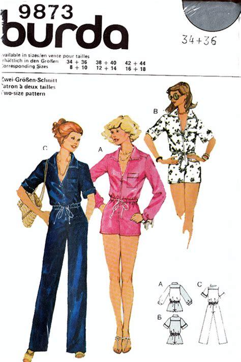 jumpsuit sewing pattern burda burda 9873 oop jumpsuit playsuit sewing pattern sizes 34