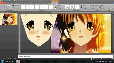 how to doodle in powerpoint drawing nagisa furukawa in powerpoint