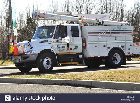 A Potomac Electric Power Company Pepco Truck At The