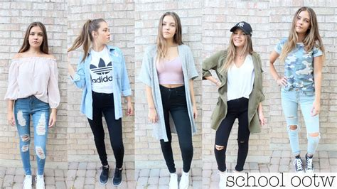 school outfit ideas  youtube