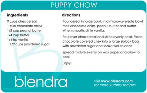 how to make puppy chow how to make puppy chow blendra