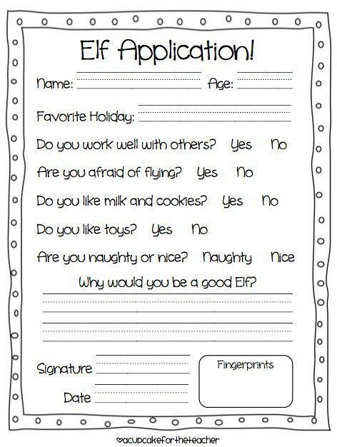 printable elf application printable elf application online application