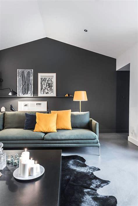 canapé d angle avec appui tête chambre taupe et noir