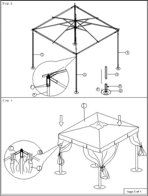 Gartenpavillon 3x3 by Aufbauanleitung Pavillon 3x3