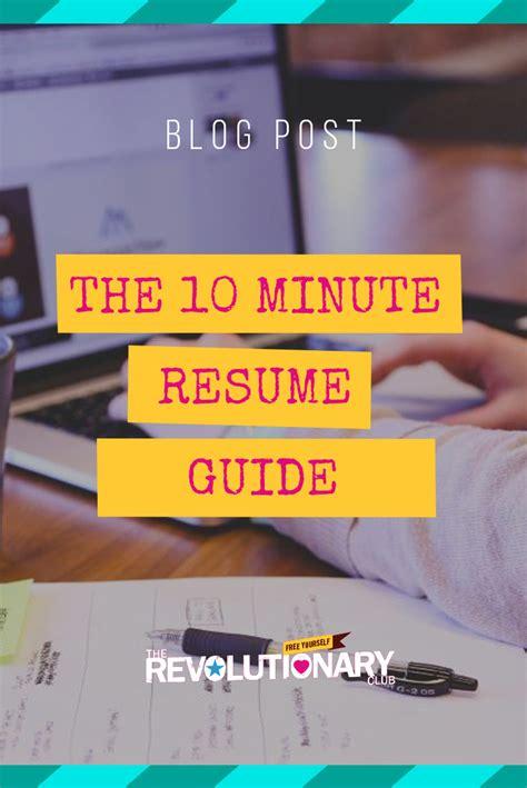 10 minute resume resume ideas
