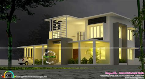 5 bedroom modern house 5 bedroom modern contemporary villa kerala home design