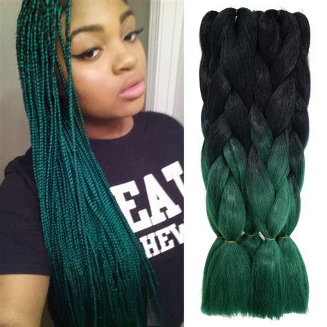 ombre synthetic braiding hair aliexpress com buy green synthetic braiding hair bulk