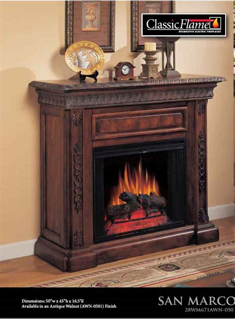 28 quot classic flame fireplaces